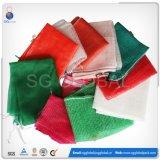 Sacos de malha de PP verde durável para acondicionamento de frutas