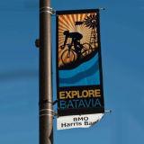 La via palo chiaro uno del metallo ha parteggiato base della bandiera di pubblicità di media di immagine (BT07)
