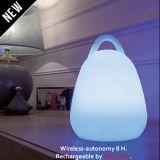 Lampe à main rechargeable rechargeable à main de couleur portable avec bonne imperméable à l'eau