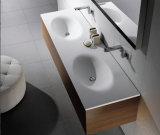 Bacia dupla de superfície sólida para banheiro