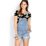100% Estilo Cottonnew tejido Denim Jeans Dama jeans de mezclilla (14170)