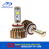 Evitek 차를 위한 황금 G3 30W 3000lm H11 크리 사람 LED 헤드라이트 전구