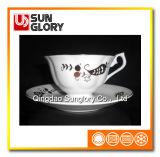 Bone China Coffee Sets com fio dourado de Bd068