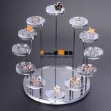 Crémaillère d'étalage acrylique circulaire personnalisée de bijou de diamant
