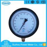 manómetro preciso de aço preto do calibre de pressão da alta qualidade do caso de 150mm
