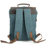 Cuir de vache style allemand sac à dos pour ordinateur portable de lourds frais de voyage sac à dos en toile (RS-6820D)