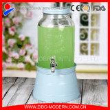 Подгонянный способом стеклянный распределитель сока с ведром льда Zibo