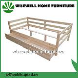 Base contínua do sofá da madeira de pinho com a gaveta do Trundle do armazenamento (W-B-5036)