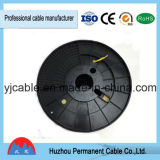 Armée de terre haute température standard transparent de 2,1 mm de diamètre extérieur de 1 mètre D10 Câble de téléphone