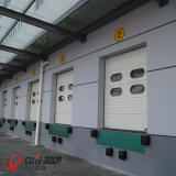 Дверь гаража секционного надземного автоматического алюминиевого профиля поставщика Китая промышленная сползая