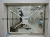 Луч стационара x защищая освинцованную стеклянную пластинку