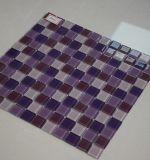 La mayoría cristalino popular de cristal púrpura mosaico para baño Azulejos