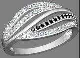 2013 최신 작풍 반지는을%s 가진 조정, CZ 돌을 마이크로 포장한다