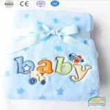 Super Cute вышивка коралловых флис детское одеяло