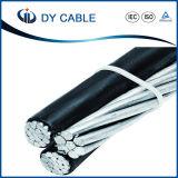 Lucht Kabel 3 Kabel ABC van Cenia Runcina Triton van de Kern Triplex van de Bundel van de Lijnen van de Draad van de Macht van de Transmissie Lucht