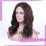 Напряжение питания на заводе человеческого волоса 100% чистого прозрачного кружева Wig