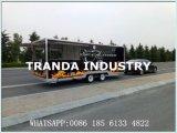 De Vrachtwagen van de Verkoop van het snelle Voedsel voor Buitenkant met Mobiel