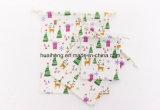 Ecoの綿の物質的な綿のドローストリングの袋のクリスマスXmasのギフト袋