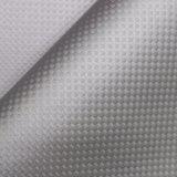 織り方織り目加工PUの革、靴革、格子縞の装飾的な革