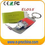 Nice couro promocional Pen Drive USB (EL015)