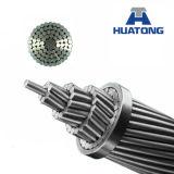 Conductor reforzado acero de aluminio descubierto de arriba del perro 100m m del cable ACSR del conductor del conductor