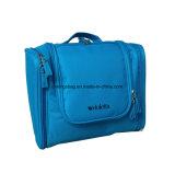 Couleur bleue/pourprée de sac cosmétique s'arrêtant portatif unisexe d'article de toilette de polyester de qualité de beauté de mode