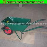 Wheelbarrow modelo Wb6410 do russo com bandeja galvanizada
