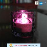 Sostenedor de vela de cristal grueso vendedor caliente del reemplazo