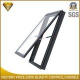Ventana de aluminio gris oscura revestida del toldo del polvo con el vidrio doble (JBD-K18)