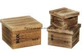 La belleza natural personalizadas de flores de jardín de madera Caja de almacenamiento