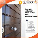Belle et populaire porte d'entrée articulée en bois solide, bois solide personnalisé de taille une porte articulée en bois intérieure de ceinture