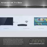 Cadre intelligent de TV basé sur le processeur du cortex A53 64bit de bras. personnalisation de Tvbox de faisceau de la quarte 2GB+8GB