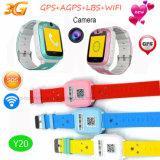 Gosses GPS de réseau 3G suivant la montre avec GPS+Lbs+Agps+WiFi Y20
