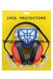 Ohrenschützer-und Atemschutzmaske und Sicherheits-Schutzbrille (HYK-705)