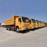 중국은 Sinotruk HOWO 유로 2 팁 주는 사람 트럭 쓰레기꾼 트럭을 수출했다