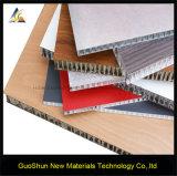 Panneau de mur en aluminium de sandwich à nid d'abeilles de matériau de construction