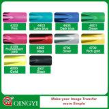 Preço de grosso de Qingyi e alta qualidade da transferência térmica metálica do vinil para o vestuário