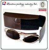 Óculos de couro de óculos de metal Caixa de óculos de ferro caso Óculos de óculos ópticos Case (HX291)