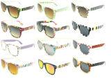 Óculos de sol de alta velocidade UV400 Wayfarar com padrões coloridos novos (20131)