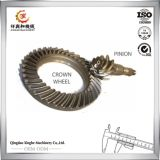 OEM de mecanizado CNC engranaje de piñón Vivienda corona de engranaje de acero de aleación Eje de engranaje