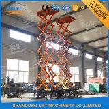 platform van het Werk van de Lift van de Schaar van 12m het Hydraulische Elektrische Mobiele