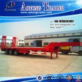 Hochleistungs3-5 Wellen 35-100 Tonnen niedrige Bett-Flachbett-halb LKW-Schlussteil-für Verkauf