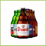 Großhandelschina-Hersteller kundenspezifische Glasbierflasche