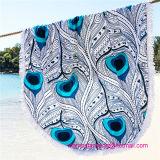 Venta al por mayor de toallas de algodón impreso alrededor del círculo de la playa con alta calidad