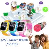 SIMのカードスロットY7sが付いているスマートな子供GPSの追跡者の腕時計