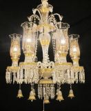 8 Light Baccarat lustre de cristal para Home/Hotel/Hall