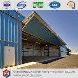 Hangar del aeroplano de la estructura de acero de la luz del surtidor de China con la puerta de plegamiento