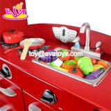2018 Новый Стиль детей большой деревянный красного игрушка кухня претендует играть W10c365
