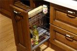 Madera maciza de cerezo gabinetes de cocina con la norma ISO9001