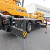 Sany Stc250 ISO 증명서를 가진 Sany 트럭 기중기의 드라이브에 의하여 거치되는 기중기 25 톤 두 배 차축